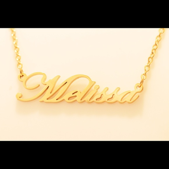 fd91675d6a945 Personalized Necklace 14K Gold Plated - Melissa NWT